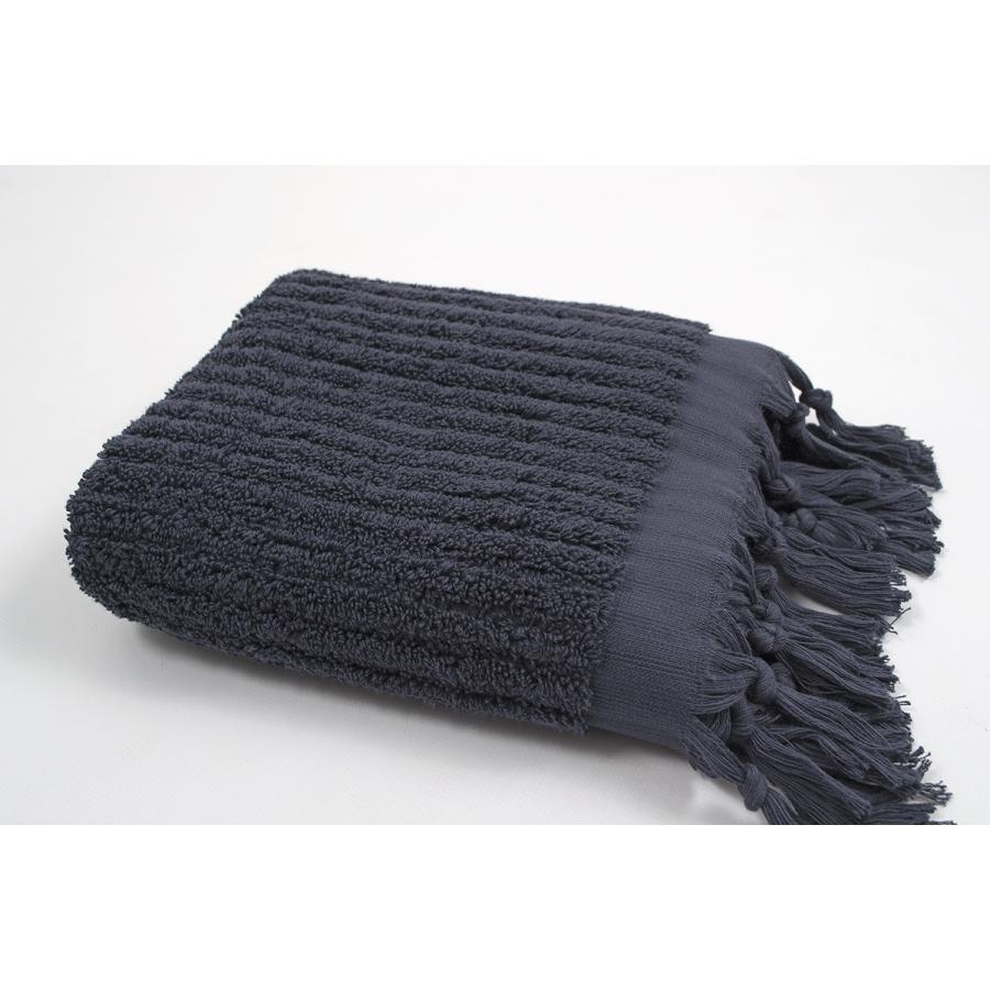 Полотенце Barine - Rib indigo синий 90*170