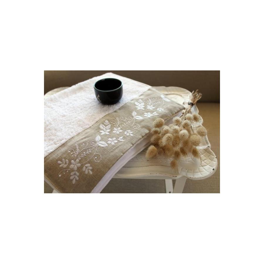 Полотенце махровое Barine - Petite beyaz белое 50*90