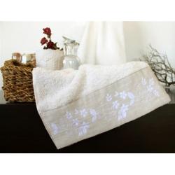 Полотенце махровое Barine - Petite ecru молочное 50*90, , 2