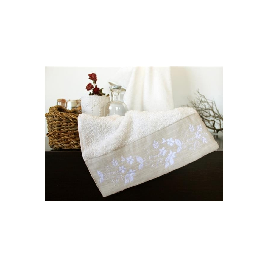 Полотенце махровое Barine - Petite ecru молочное 50*90