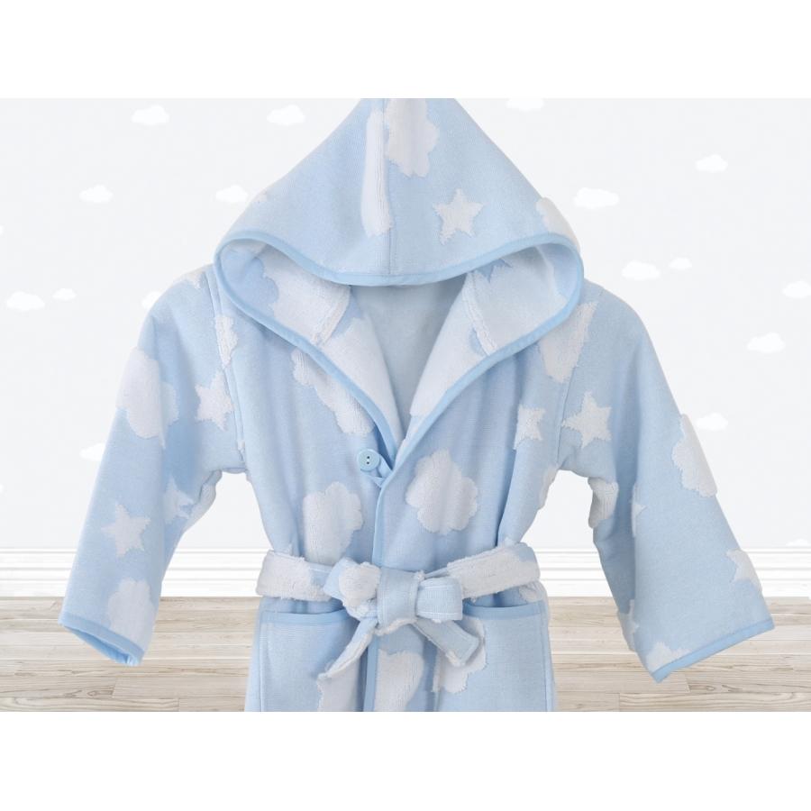 Халат детский Irya - Cloud голубой 3-4 года