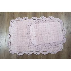 Набор ковриков Irya - Mina pembe розовый 60*90+40*60, , 2
