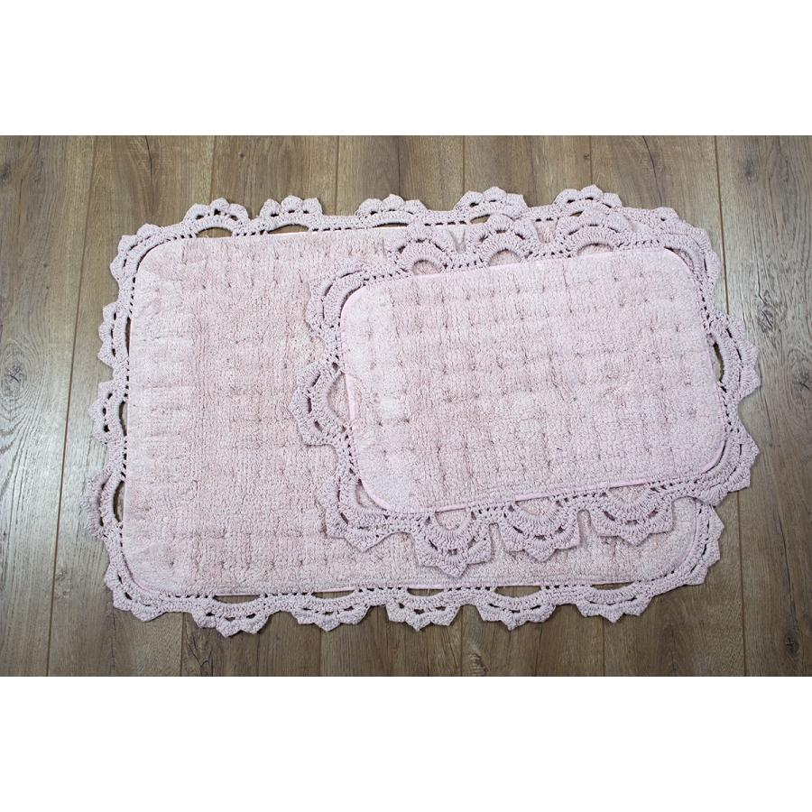 Набор ковриков Irya - Mina pembe розовый 60*90+40*60
