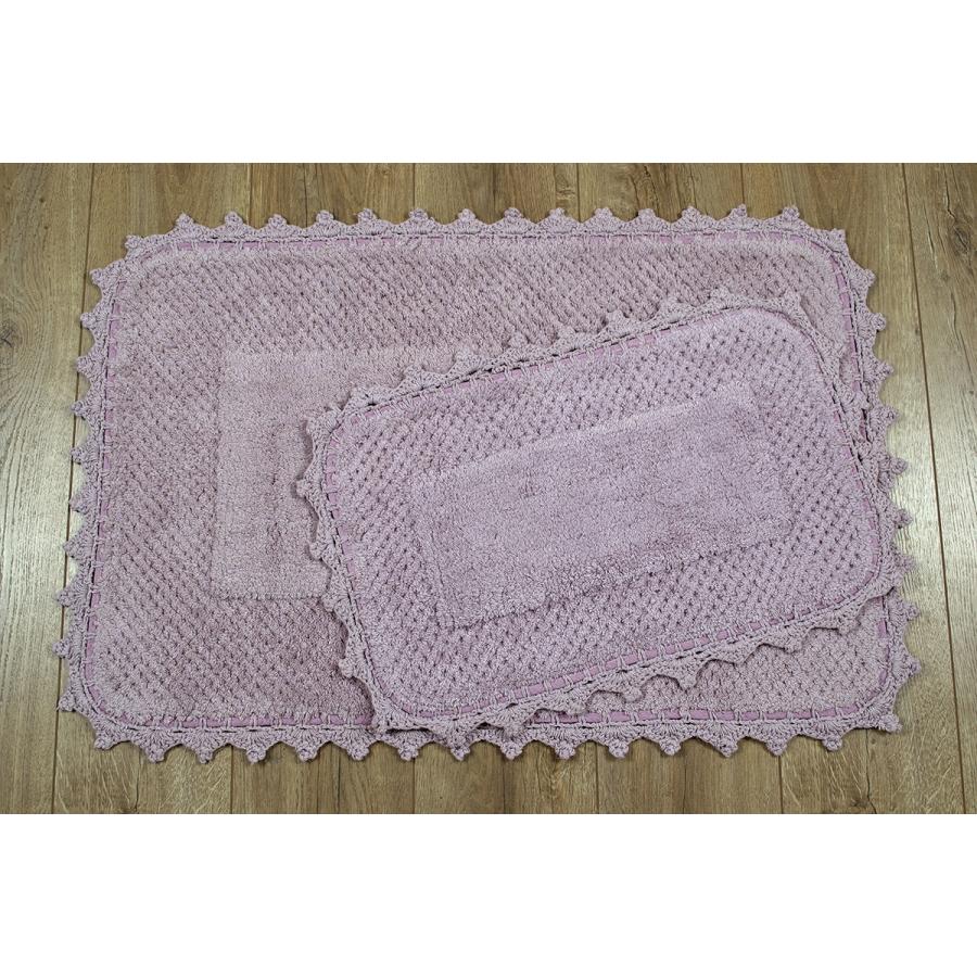 Набор ковриков Irya - Carmela lila лиловый 60*90+40*60