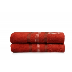 Набор полотенец Beverly Hills Polo Club - 355BHP1263 Botanik Brick Red 50*90, , 5