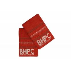 Набор полотенец Beverly Hills Polo Club - 355BHP1604 Botanik Brick Red 50*90+70*140, , 3