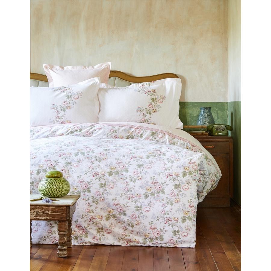 Постельное белье Karaca Home ранфорс - Shale somon лососевый евро