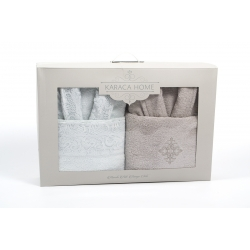 Набор халат с полотенцем Karaca Home - Novela 2018-2 tiffany, , 4