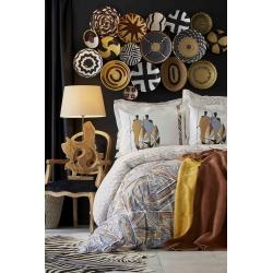 Набор постельное белье с покрывалом Karaca Home - Ruan kiremit кирпичный евро, , 2