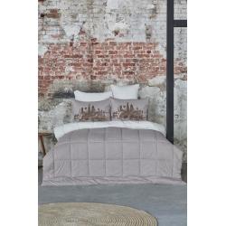 Набор постельное белье с одеялом Karaca Home - Londra bej бежевый полуторный, , 2