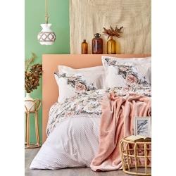 Набор постельное белье с покрывалом Karaca Home - Elsa somon 2020-1 лососевый евро, , 2