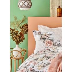 Набор постельное белье с покрывалом Karaca Home - Elsa somon 2020-1 лососевый евро, , 3