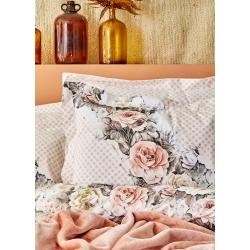 Набор постельное белье с покрывалом Karaca Home - Elsa somon 2020-1 лососевый евро, , 4