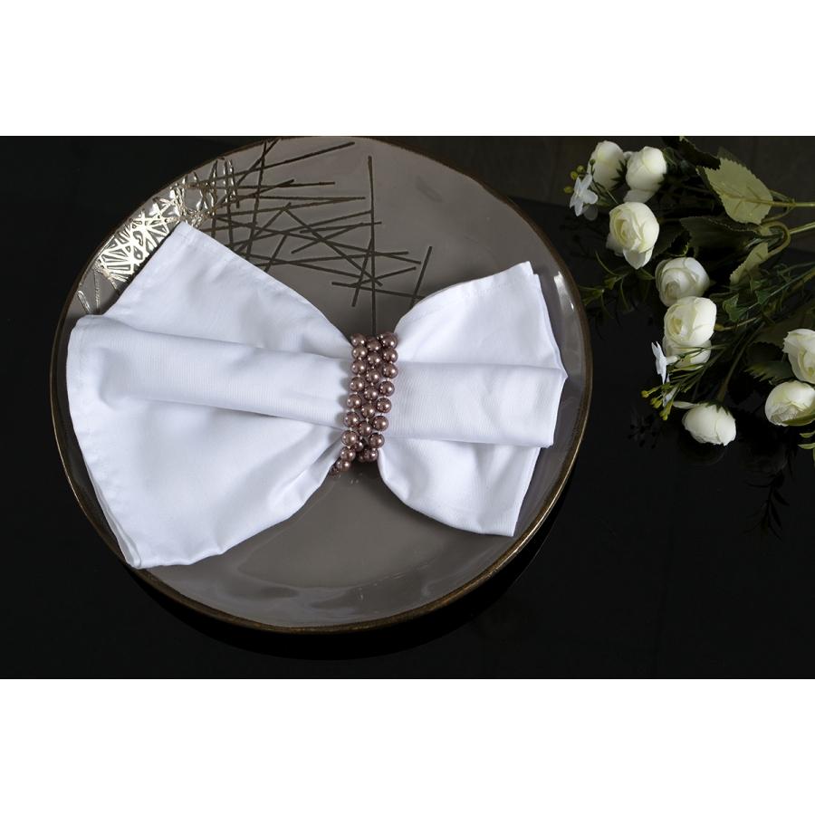 Салфетка Lotus отель - Белый сатин классик 30*30