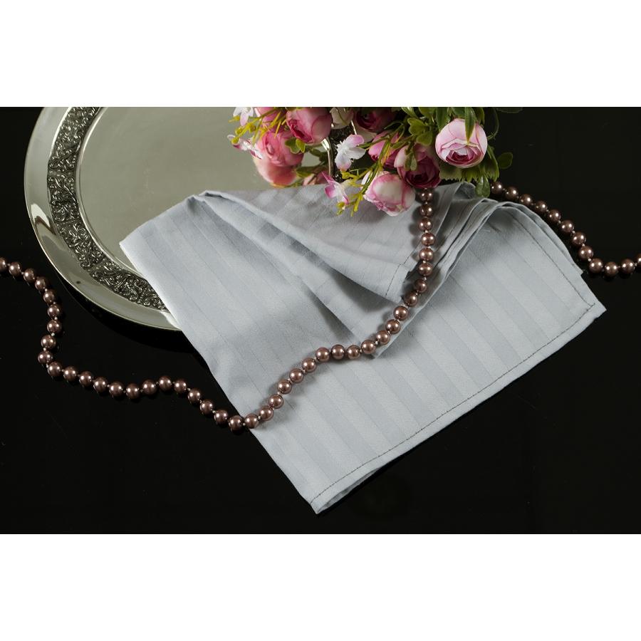 Салфетка Lotus отель - Серый сатин страйп 1*1 35*35