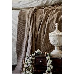 Набор постельное белье с пледом Karaca Home - Desire bej 2020-1 бежевый евро, , 4