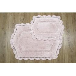 Набор ковриков Irya - Hena pembe розовый 60*90+40*60, , 2