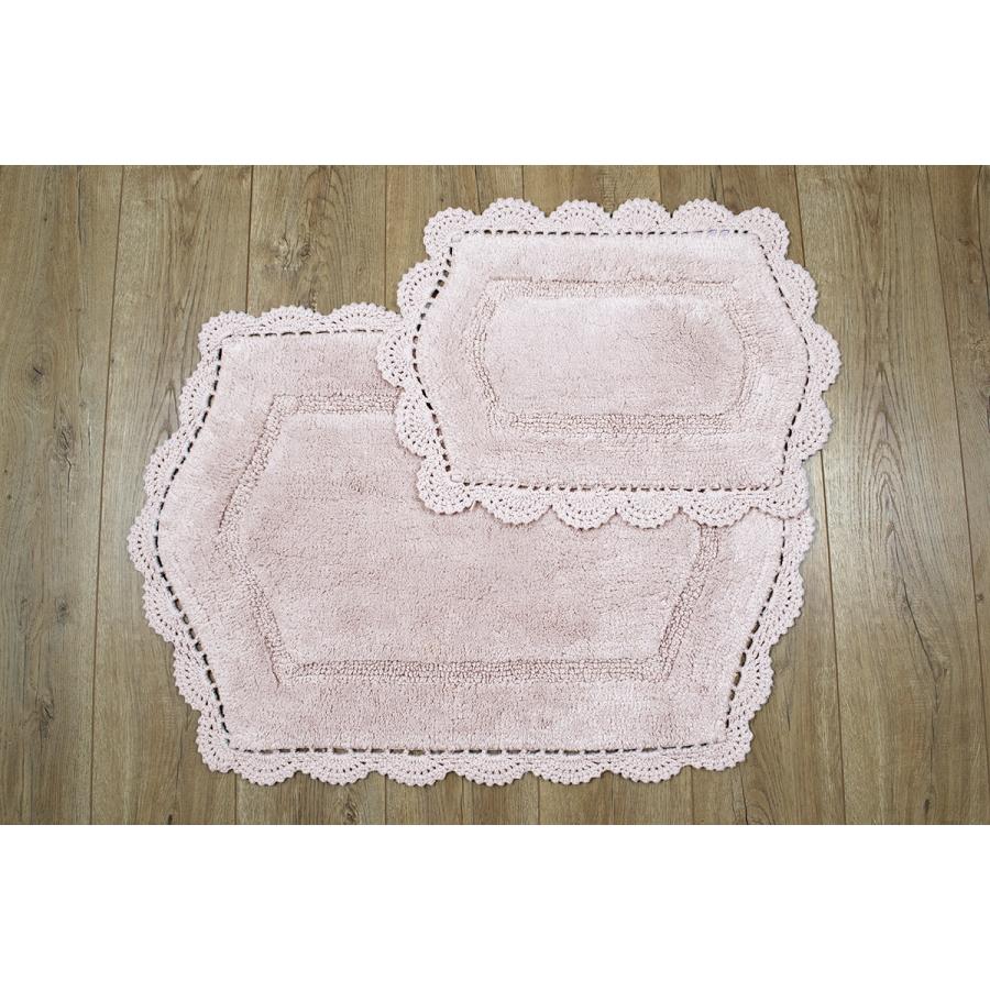 Набор ковриков Irya - Hena pembe розовый 60*90+40*60