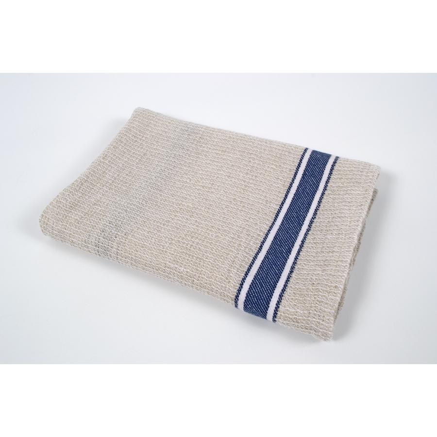 Кухонное полотенце вафельное Barine - Gastronome navy stripe 50*70