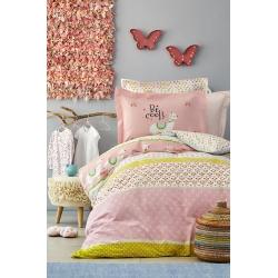 Постельное белье Karaca Home - Arlina pembe 2019-2 розовый ранфорс подростковое, , 2