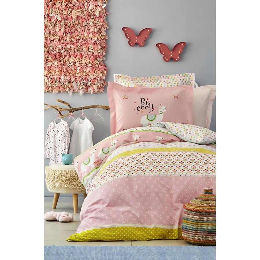 Постельное белье Karaca Home - Arlina pembe 2019-2 розовый ранфорс подростковое