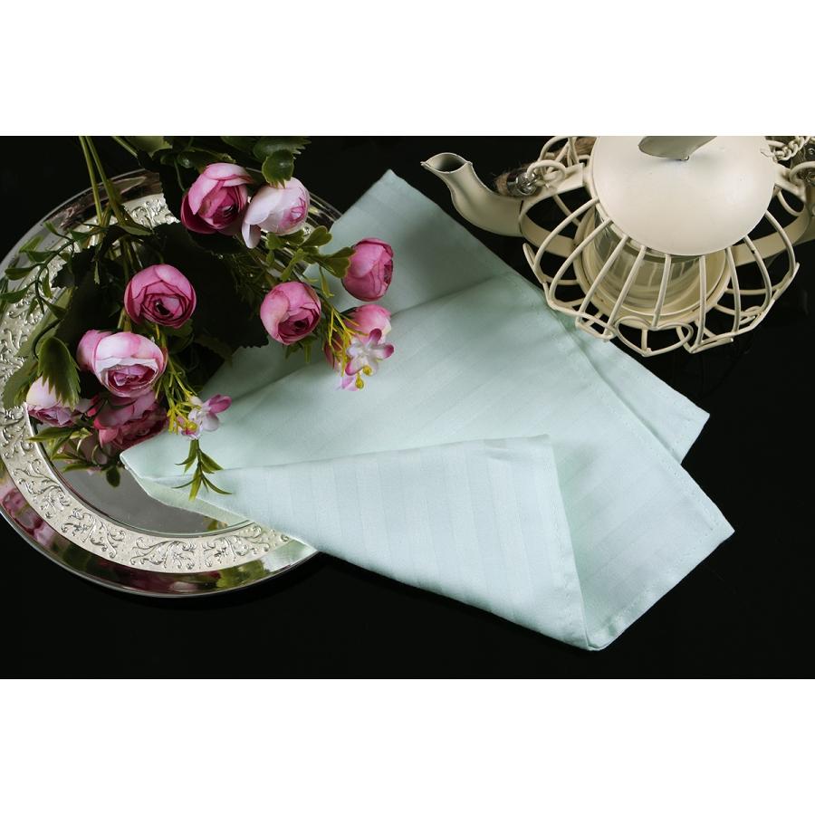 Салфетка Lotus отель - Ментол сатин страйп 1*1 40*40