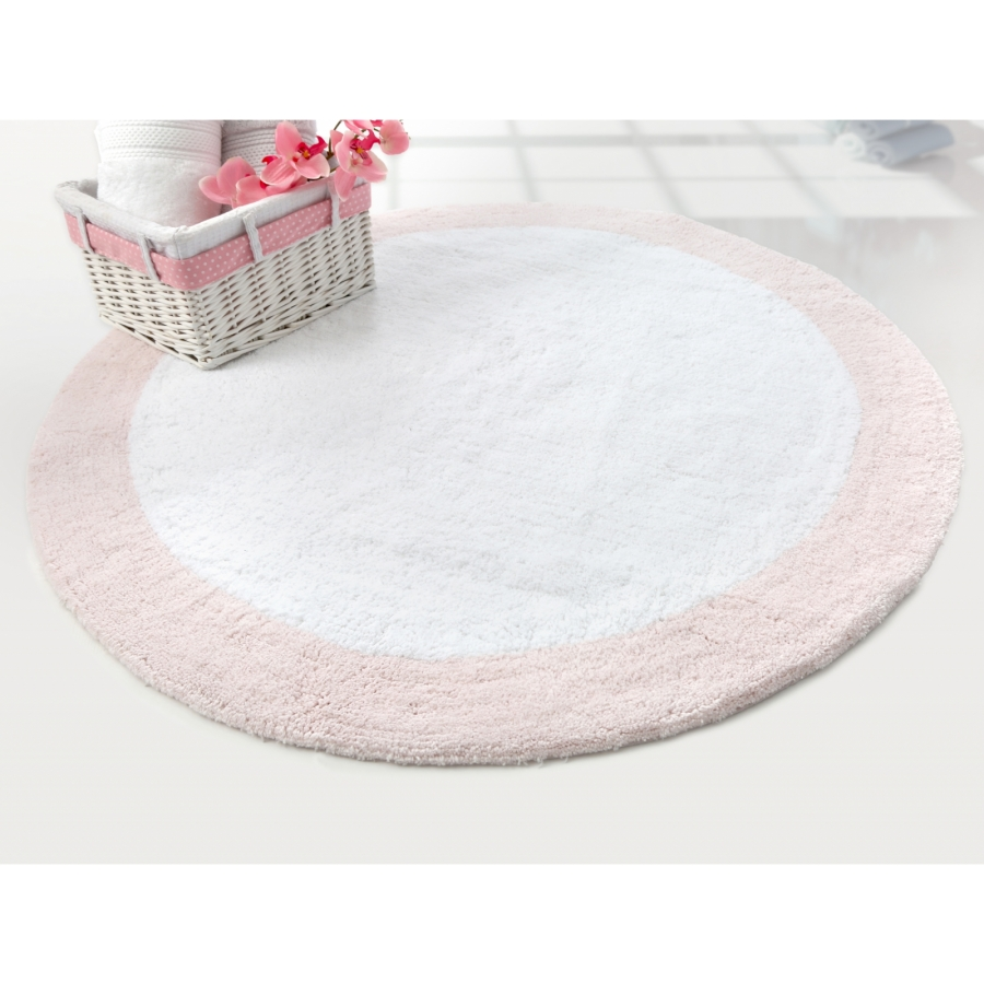 Коврик Irya - Tully beyaz-pembe розовый 90*90