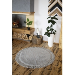 Коврик Irya - Lora a.gri (light grey) светло серый 90*90, , 4