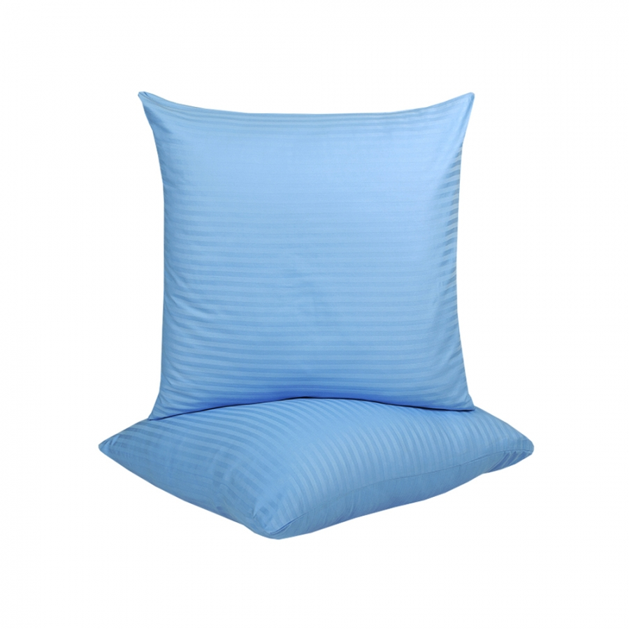 Наволочки Lotus Отель - Сатин Страйп 1*1 голубой Турция 70*70 (2 шт)