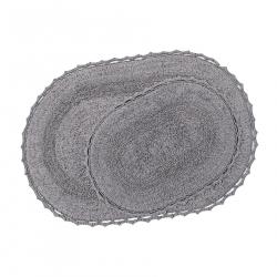 Набор ковриков Irya - Vermont gri серый 60*90+40*60, , 2