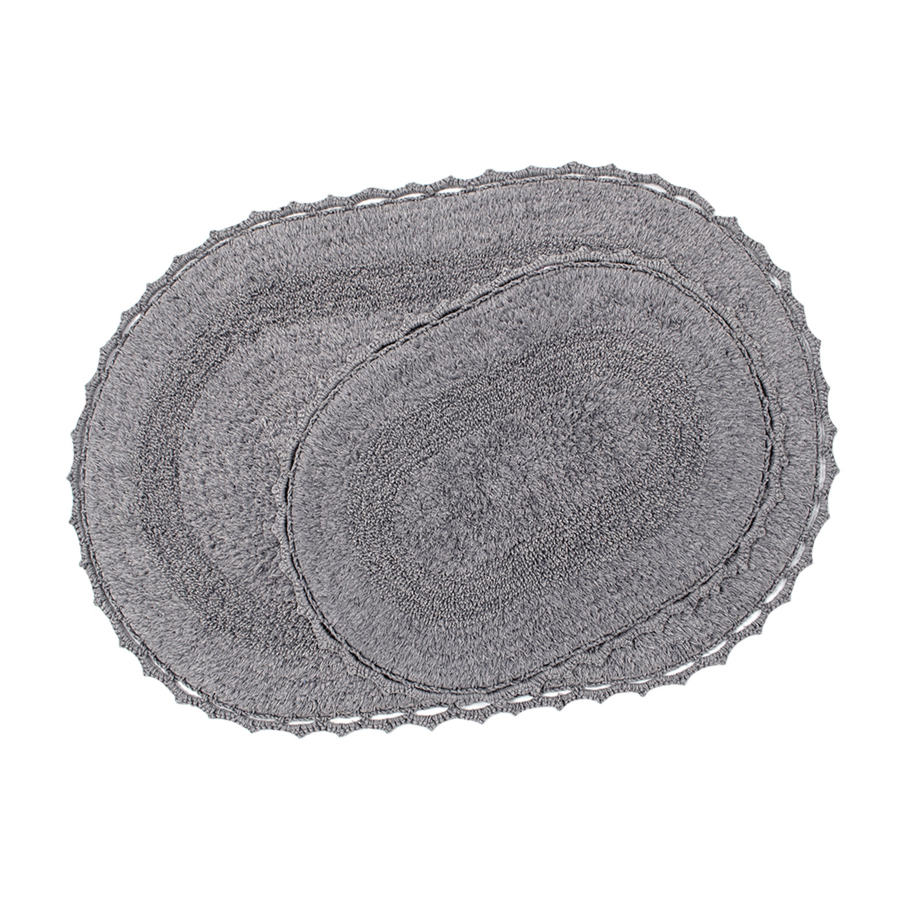 Набор ковриков Irya - Vermont gri серый 60*90+40*60