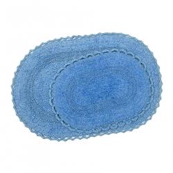 Набор ковриков Irya - Vermont lacivert синий 60*90+40*60, , 2