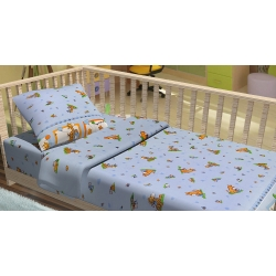 Постельное белье для младенцев Kidsdreams - Зверята путешественники, , 2