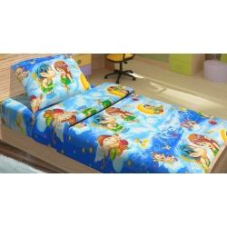 Постельное белье для подростков Kidsdreams 150 поплин - Амуры голубое, , 2