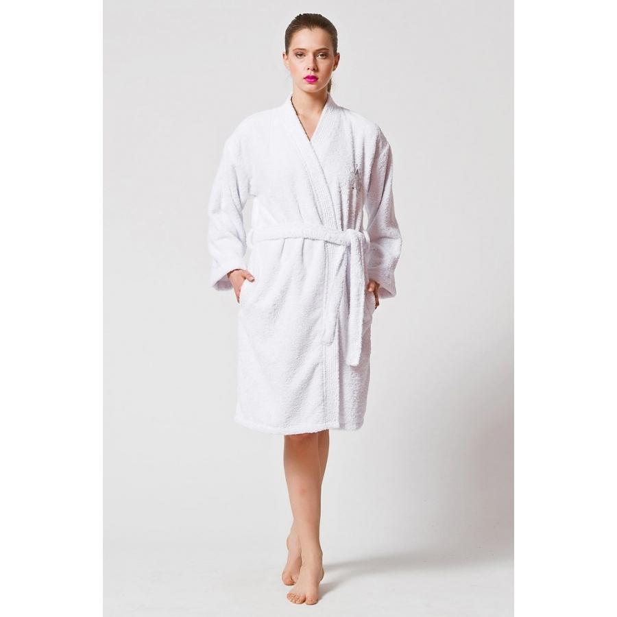 Домашняя одежда U.S.Polo Assn - Халат USPA ekru молочный XS/S