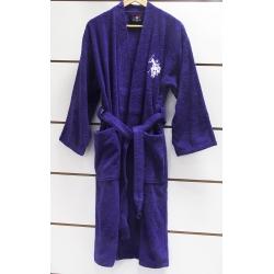 Халат детский махровый U.S.Polo Assn - USPA mor-lacivert фиолетово-синий 9/10 лет, , 2